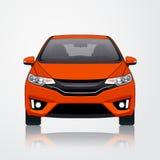 Opinião alaranjada da fonte do ícone do carro Ilustração do vetor Fotos de Stock Royalty Free