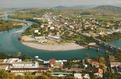Opinião albanesa de Shkodra da cidade Fotografia de Stock Royalty Free