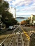 Opinião Alcatraz da rua de San Francisco Imagem de Stock