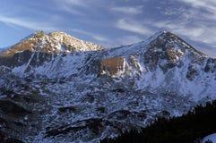Opinião alpina do circo, céu bonito da noite Fotografia de Stock Royalty Free