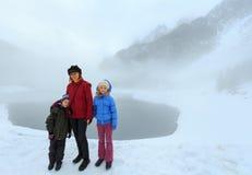 Opinião alpina do lago do inverno Imagens de Stock