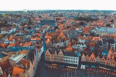 Opinião alta de Bruges imagem de stock royalty free