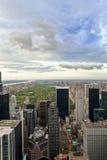 Opinião alta do Upper Manhattan e do Central Park, New York, EUA Fotografia de Stock