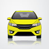 Opinião amarela da fonte do ícone do carro Ilustração do vetor Imagem de Stock Royalty Free
