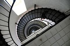 Opinião ascendente da escadaria do farol Fotografia de Stock Royalty Free