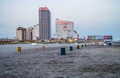 Opinião Atlantic City da praia fotografia de stock royalty free