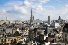 Opinião Bélgica da cidade de Bruxelas fotos de stock
