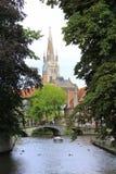 Opinião Bélgica de Bruges Imagem de Stock Royalty Free
