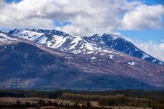 Opinião Ben Nevis Range em Fort William nas montanhas de Escócia Fotografia de Stock Royalty Free