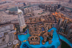 Opinião Bird's-eye de Dubai fotografia de stock royalty free
