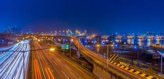Opinião bonita da cidade da noite de Coreia Seoul Imagem de Stock Royalty Free