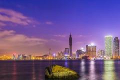 A opinião bonita da noite da ilhota de Gulangyu Imagem de Stock