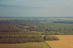 Opinião bonita da paisagem do ar fotografia de stock royalty free