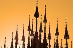 Opinião bonita da paisagem Silhueta do templo imagem de stock