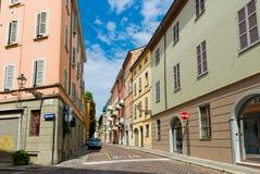 Opinião bonita da rua em Parma Foto de Stock Royalty Free