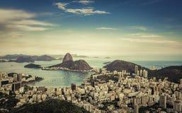 Opinião bonita da skyline Rio de janeiro foto de stock royalty free