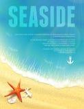 Opinião bonita do beira-mar com estrela do mar. Fotos de Stock