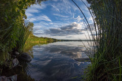 Opinião bonita do lago Foto de Stock Royalty Free