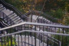 Opinião bonita do outono em escadas Imagem de Stock