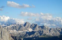 Opinião bonita do panorama de Marmolada das dolomites Imagem de Stock Royalty Free