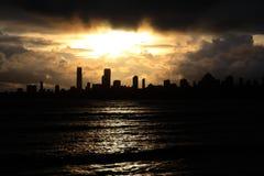 Opinião bonita do sol Foto de Stock