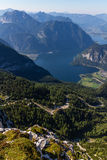 Opinião bonita dos cumes da montanha de Dachstein, 5 dedos que veem a plataforma, Áustria Fotografia de Stock