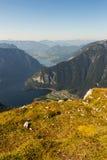 Opinião bonita dos cumes da montanha de Dachstein, 5 dedos que veem a plataforma, Áustria Foto de Stock Royalty Free