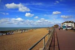 Opinião bonita Kent Reino Unido da praia de Hythe fotos de stock royalty free