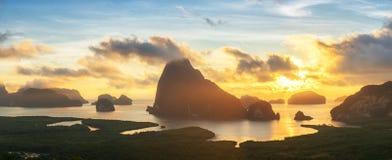 Opinião bonita Phang Nga: Khao Samed Nang Chee Viewpoint, Pa fotos de stock royalty free