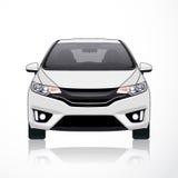 Opinião branca da fonte do ícone do carro Ilustração do vetor Foto de Stock Royalty Free