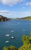 Opinião BRITÂNICA de Salcombe Devon England do estuário de Kingsbridge popular para a navigação e a vela Imagens de Stock Royalty Free