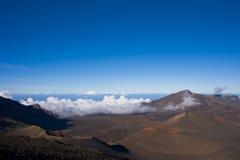 Opinião cénico da cratera do vulcão de Haleakala Imagens de Stock