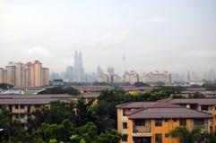 Opinião cénico de centro de cidade de Kuala Lumpur Imagens de Stock