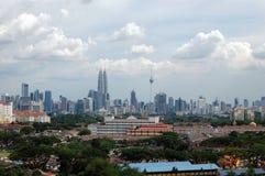 Opinião cénico de centro de cidade de Kuala Lumpur Fotografia de Stock Royalty Free