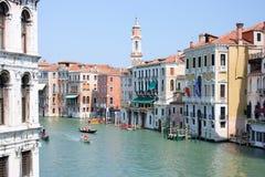 Opinião cénico do canal grandioso de Veneza Imagens de Stock