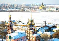 Opinião cénico Nizhny Novgorod de fevereiro Foto de Stock Royalty Free