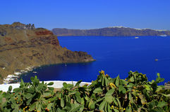 Opinião cênico bonita da ilha grega Fotografia de Stock