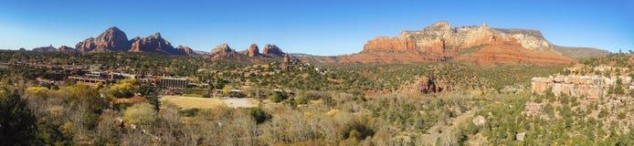Opinião cênico do parque estadual vermelho panorâmico da rocha de Sedona o Arizona da paisagem imagem de stock
