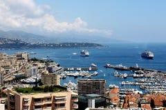 Opinião cênico Monte - Carlo, porto de Mônaco Foto de Stock Royalty Free