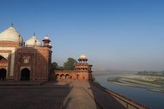 Opinião cênico Taj Mahal bonito fotografia de stock royalty free