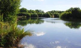 Opinião calma do lago em Kent, Inglaterra Imagens de Stock