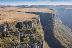 Opinião Canion Fortaleza - Serra Geral National Park Foto de Stock Royalty Free