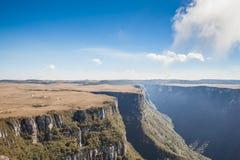 Opinião Canion Fortaleza - Serra Geral National Park Imagem de Stock Royalty Free