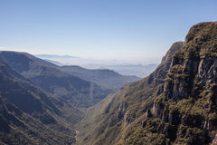 Opinião Canion Fortaleza - Serra Geral National Park Imagens de Stock