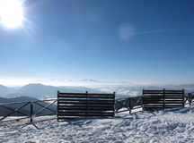 Opinião Carpathian do inverno Imagem de Stock Royalty Free