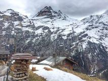 Opinião catita da aldeia da montanha Foto de Stock Royalty Free