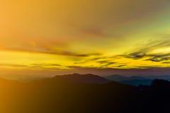 Opinião celestial do paraíso do por do sol Fotos de Stock
