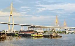 Opinião Chao Phraya River Bangkok Imagens de Stock