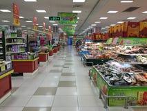 Opinião chinesa do interior do supermercado Fotografia de Stock Royalty Free