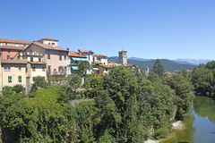 Opinião Cividale del Friuli, Itália Foto de Stock